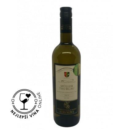 Müller Thurgau, moravské zemské víno, 2019, suché, 0,75l