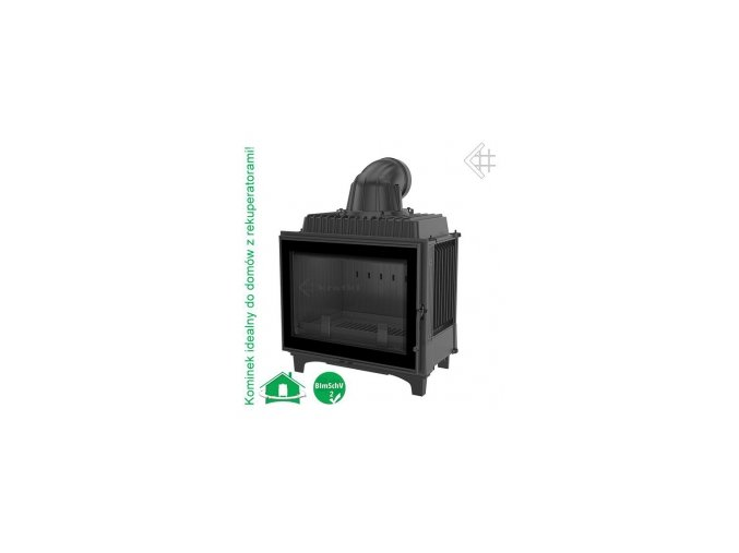 Litinová vložka Kratki FRANEK - černá 16 kW - černá