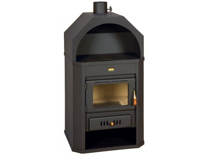 Krbová kamna Prity 15 kW - černá