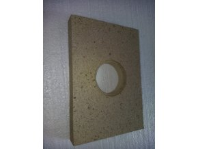 vermikulitová deska dvířek kotle Prity s otvorem