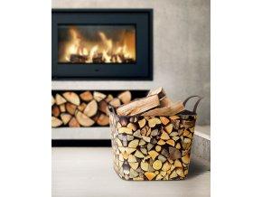 LB koš na dřevo univerzální FLEXI, dekor dřevo