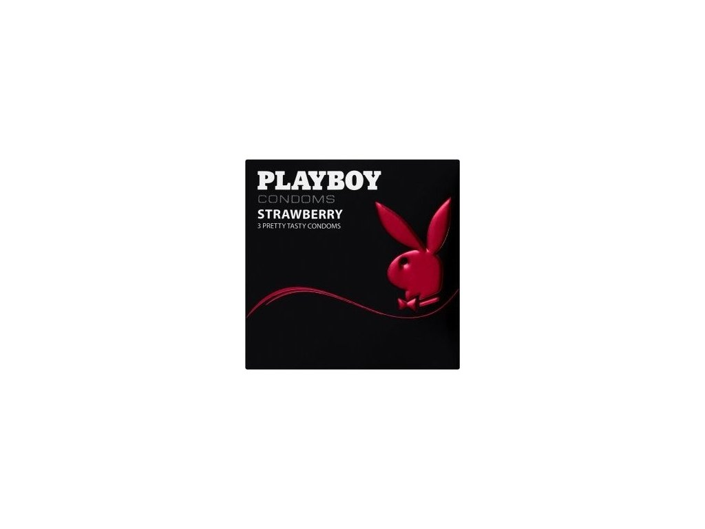 Playboy kondomy s jahodovou vůní 3ks