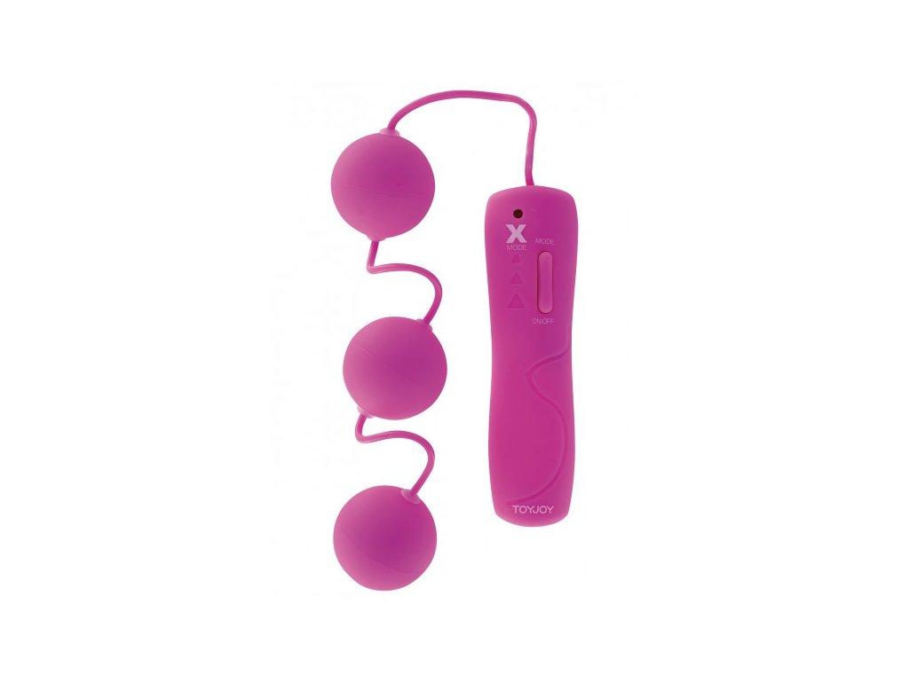 Vibrační kuličky trojté růžové