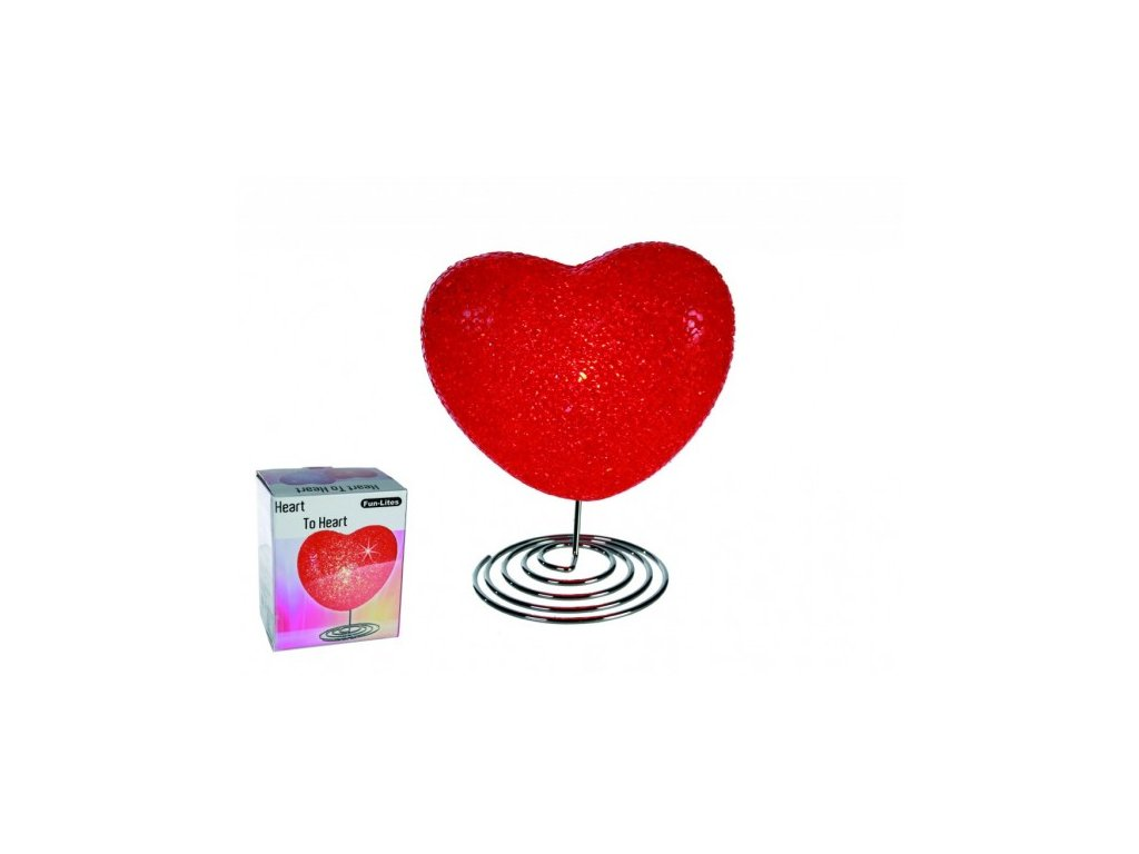Lampička ve tvaru srdce