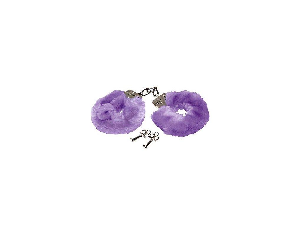 plyšová pouta fialová