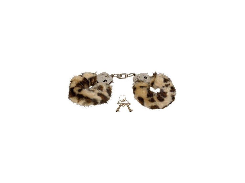 plyšové pouta leopard