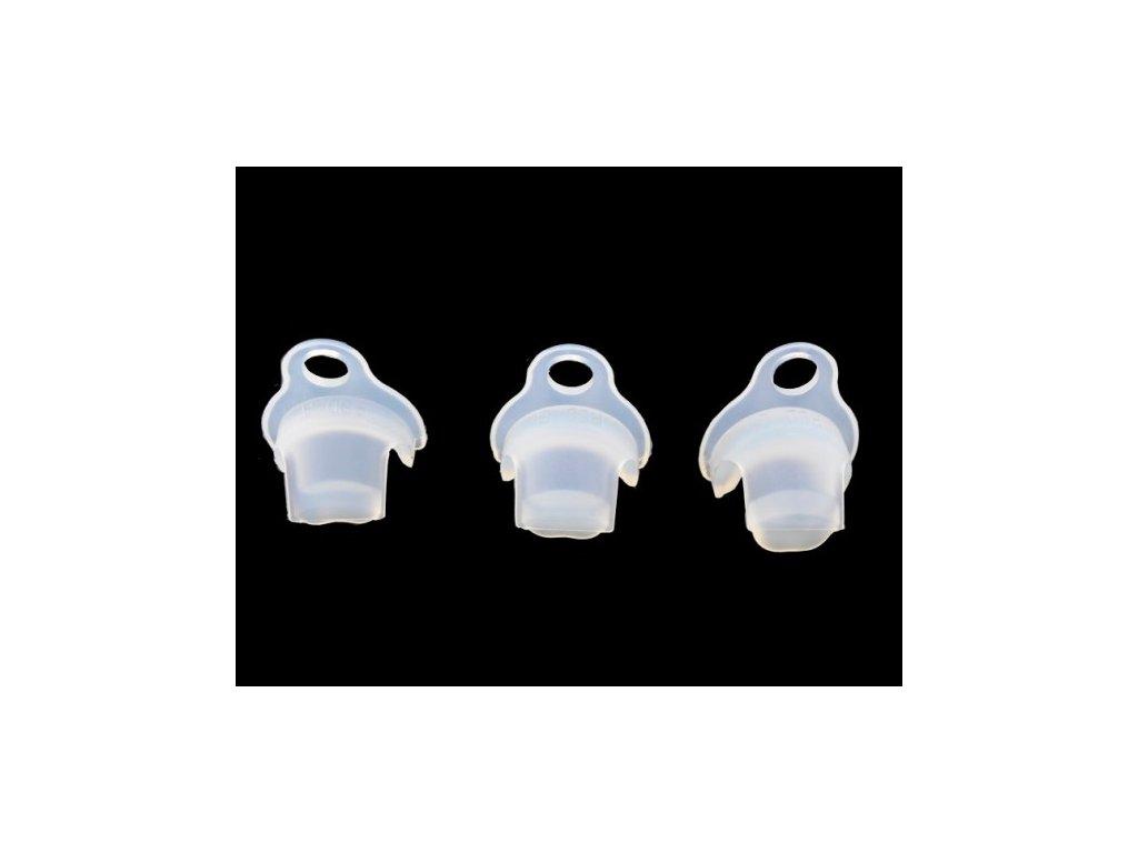 Plastové vložky do klícek bílé