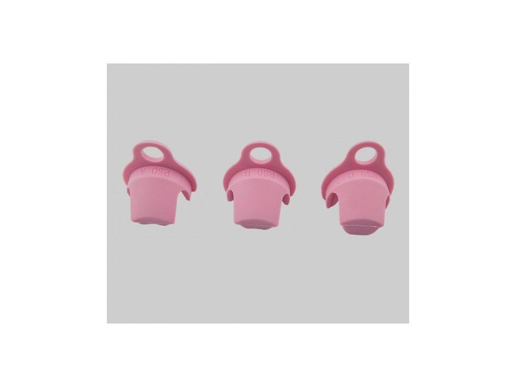 Plastové vložky do klícek růžové