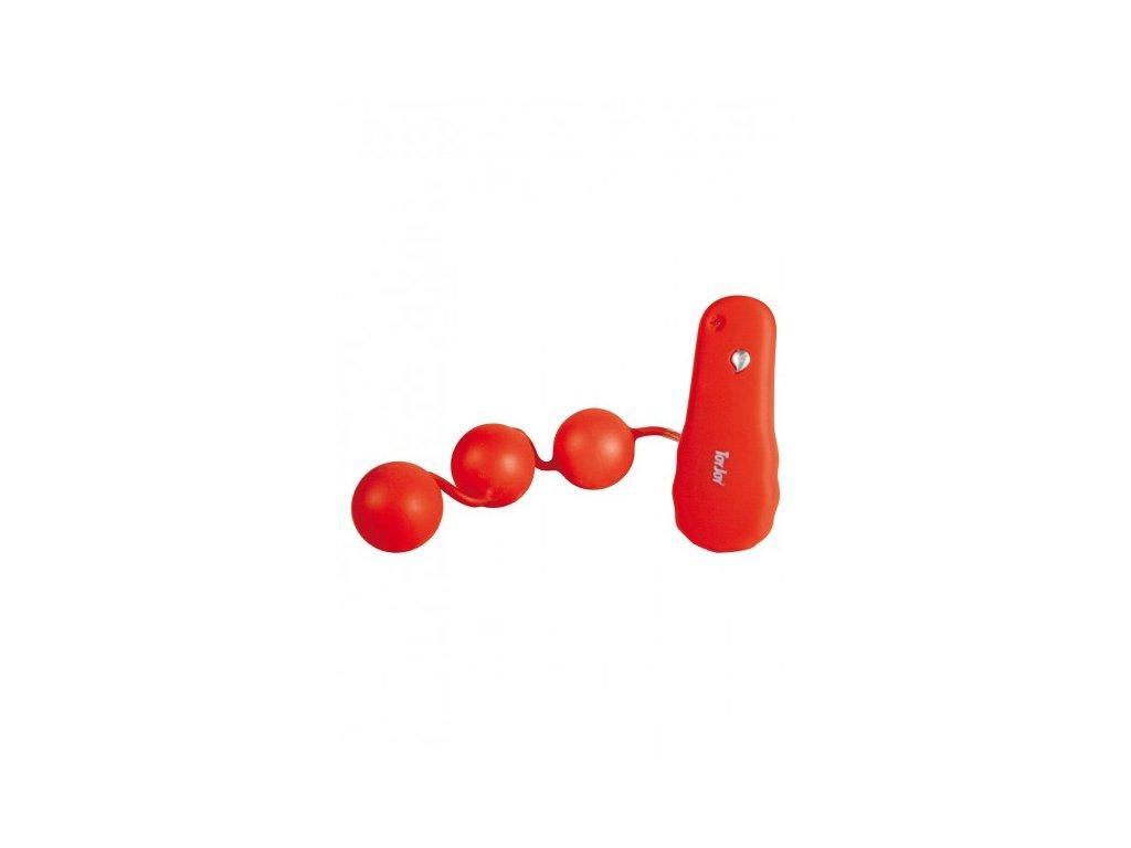 Vibrační anální kuličky červené
