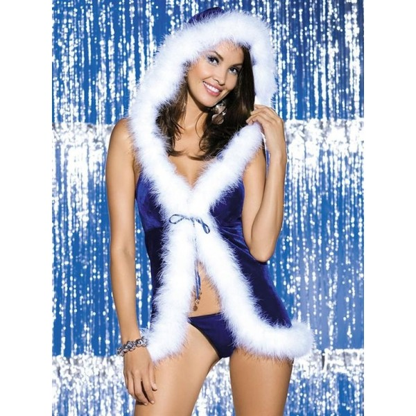 Vánoční kostým modrý L-XL
