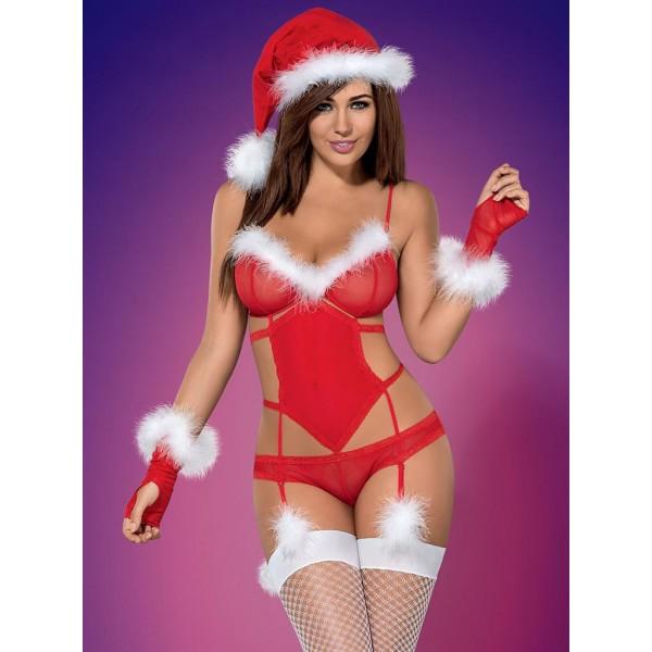 Vánoční kostým sexy paní Santova L-XL