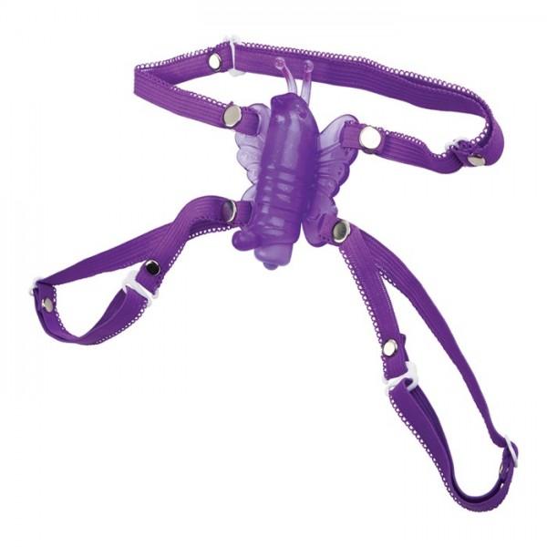 Vibrační kalhotky - motýlek fialový