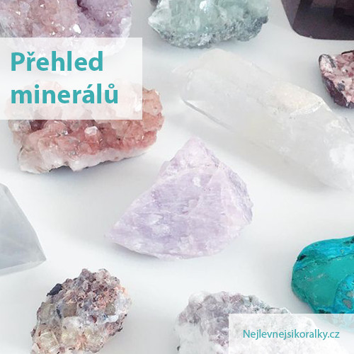 Velký přehled minerálů a polodrahokamů