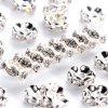 Mosazná rondelka - stříbrná - třída AAA - vroubkovaná - ∅ 8 x 3,8 mm - 1 ks
