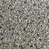 Mosazný korálek - rondelka - stříbrná - ∅ 8.5 x 4.5 mm - 1 ks