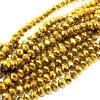 Broušené korálky - zlaté - ∅ 8 x 6 mm - 10 ks