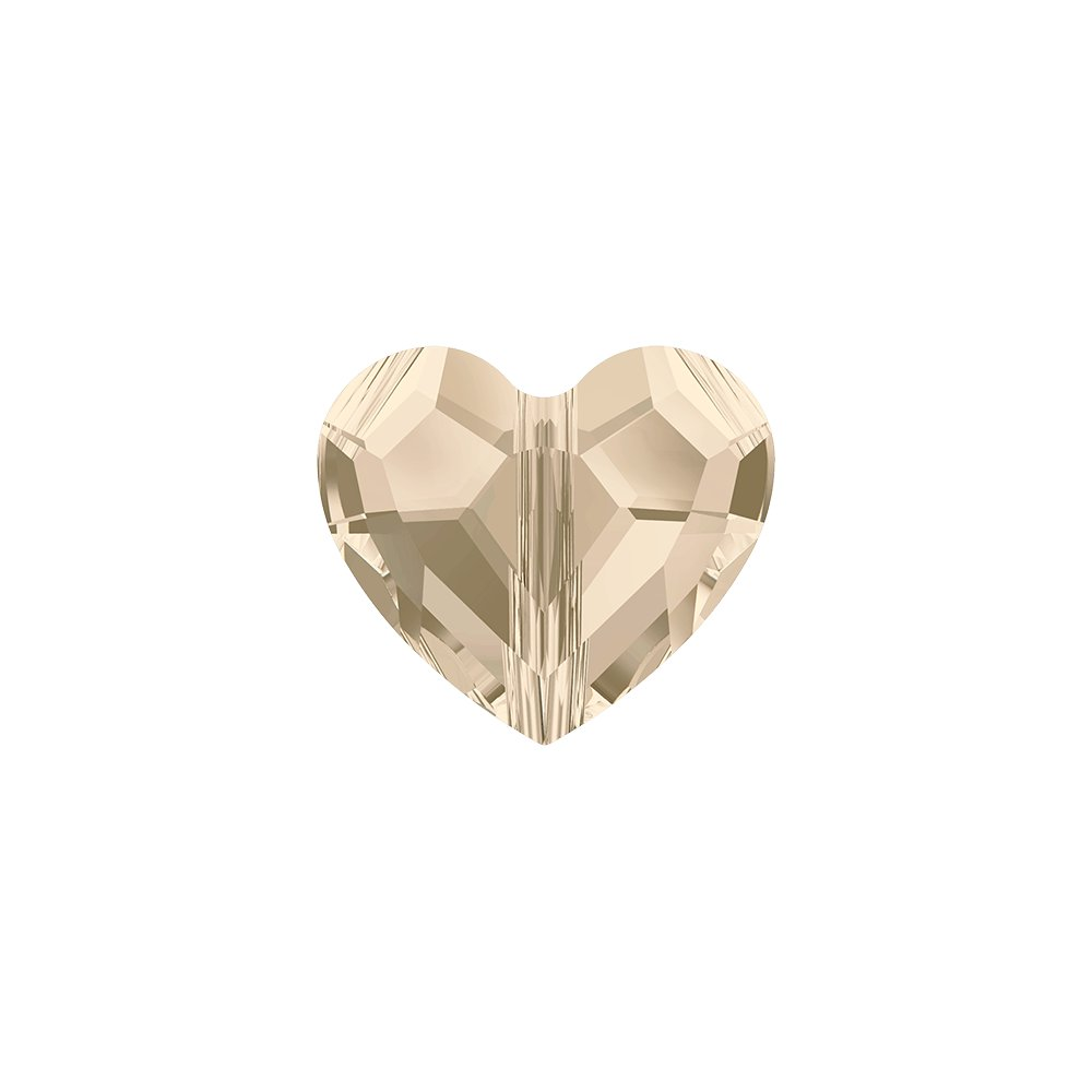 SWAROVSKI 5741 - LOVE BEAD - Light Silk - 12 x 12 x 5,5 mm - 1 ks