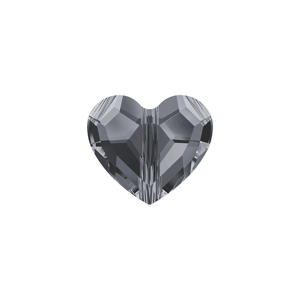 SWAROVSKI 5741 - LOVE BEAD - Crystal Silver Night 2x - 11 x 12 x 5,5 mm - 1 ks