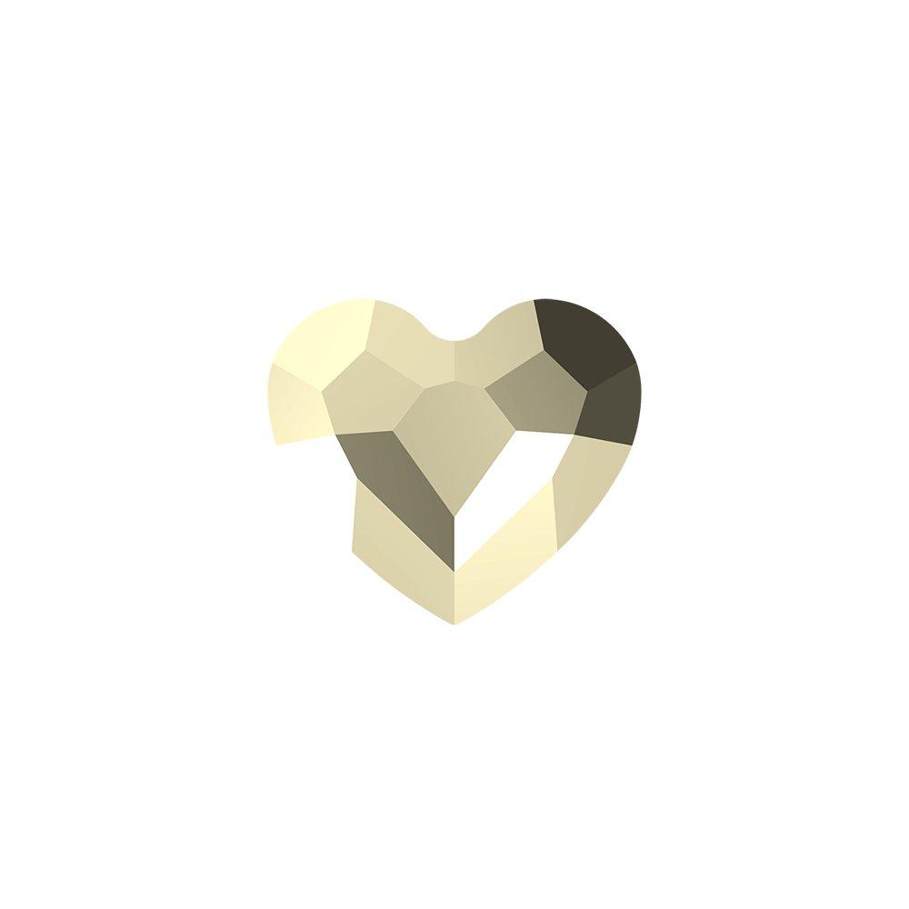 SWAROVSKI 5741 - LOVE BEAD - Crystal Metallic Light Gold 2x - 11 x 12 x 5,5 mm - 1 ks