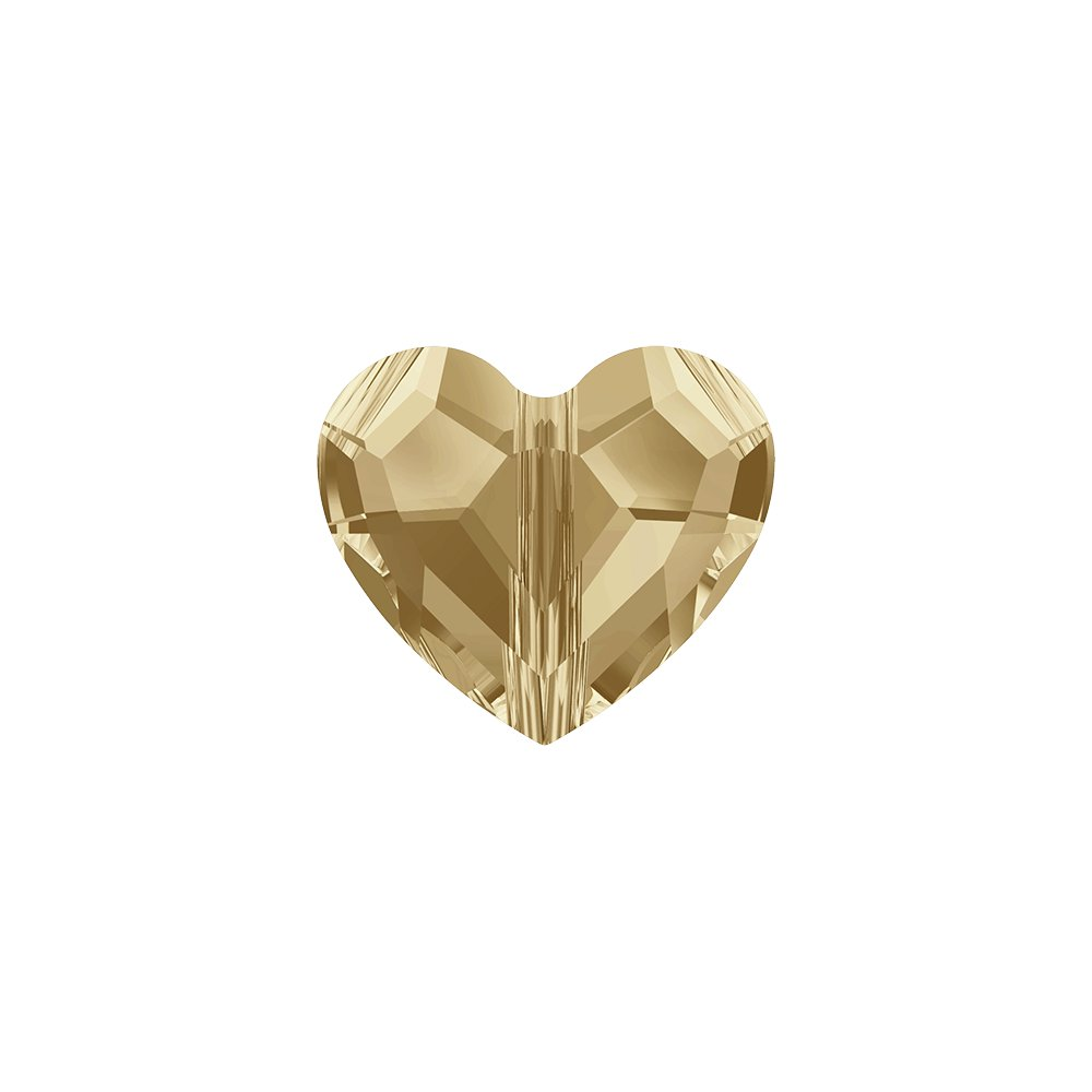 SWAROVSKI 5741 - LOVE BEAD - Crystal Golden Shadow - 8 x 8 x 4 mm - 1 ks
