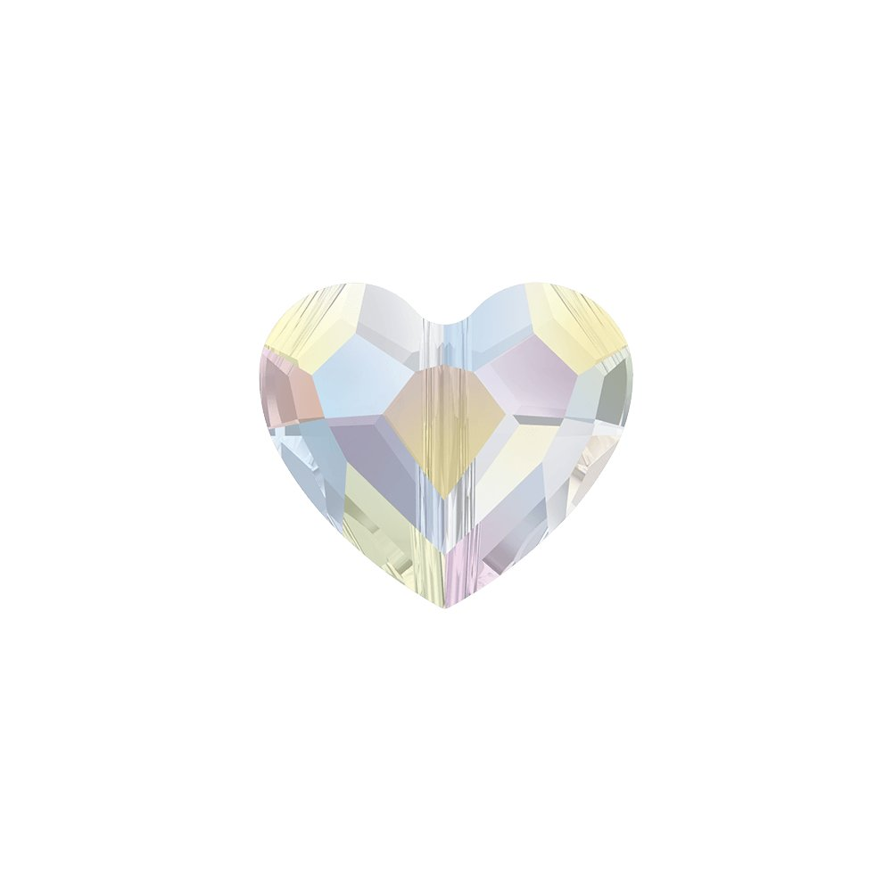 SWAROVSKI 5741 - LOVE BEAD - Crystal Aurore Boreale - 8 x 8 x 4 mm - 1 ks