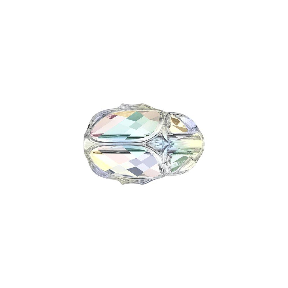 SWAROVSKI 5728 - SCARAB BEAD - Crystal Aurore Boreale - 12 x 8 x 5,5 mm - 1 ks