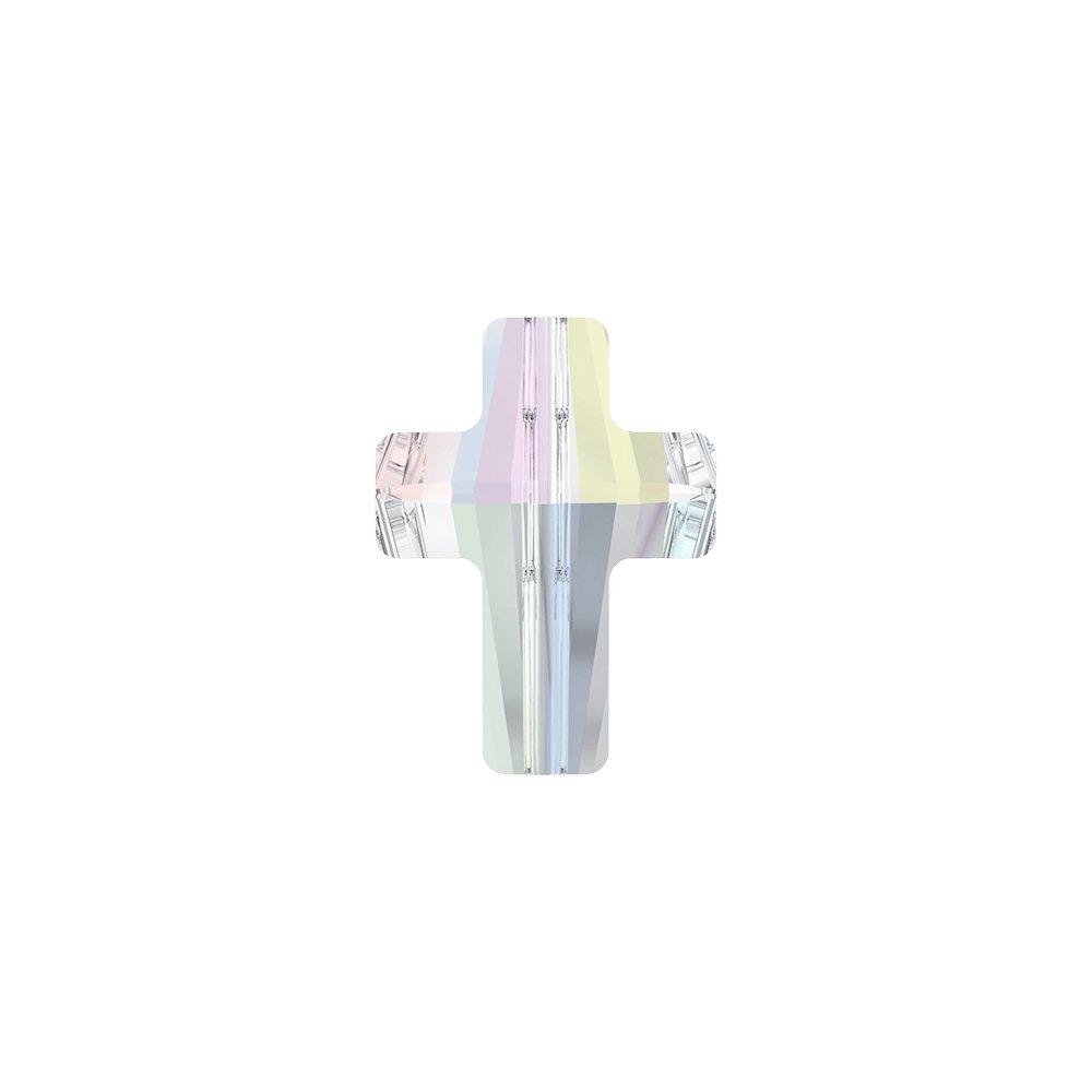 SWAROVSKI 5728 - CROSS BEAD - Crystal Aurore Boreale - 14 x 10,5 x 6 mm - 1 ks