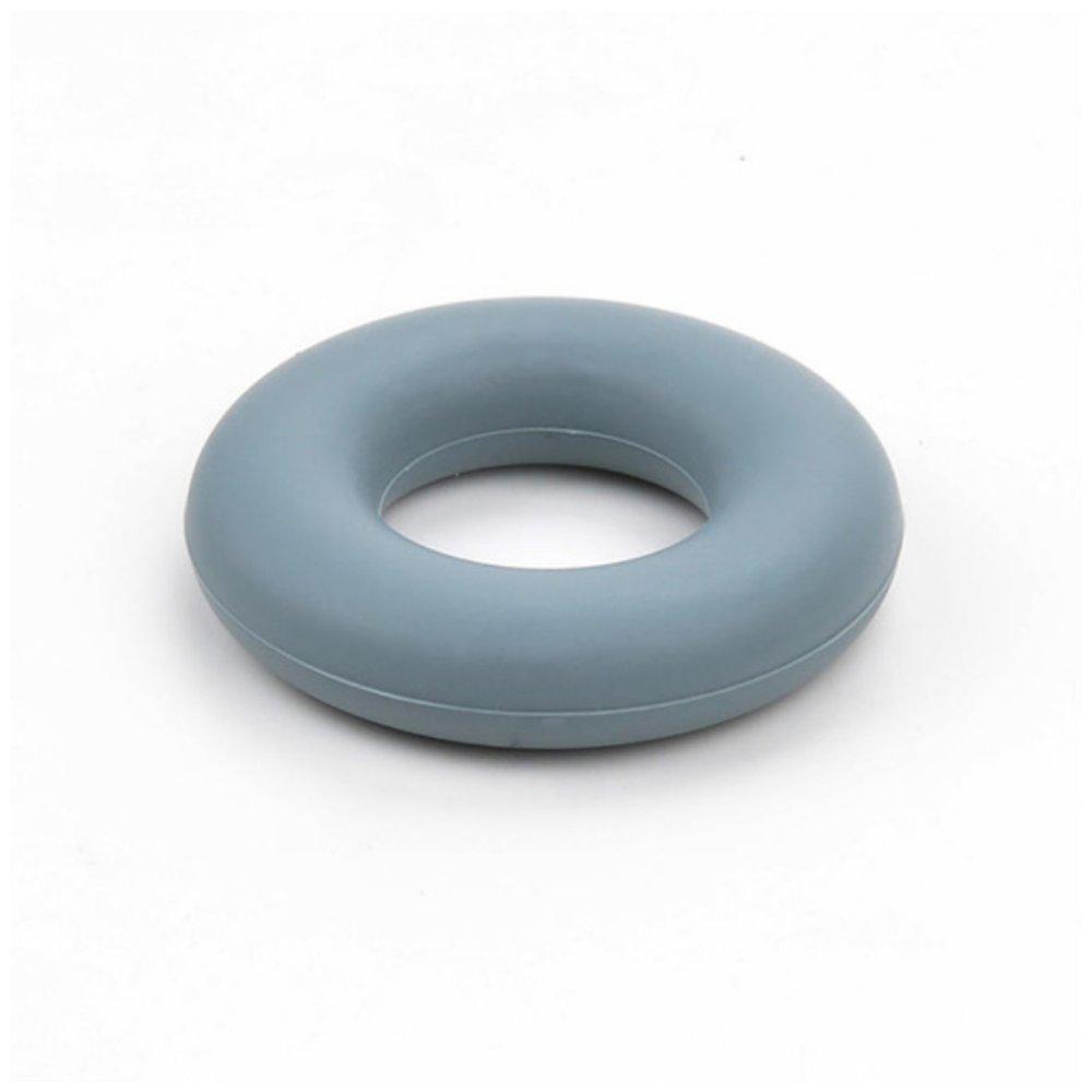 Silikonové kousátko - kruh - tmavě šedé - ∅ 43 mm - 1 ks