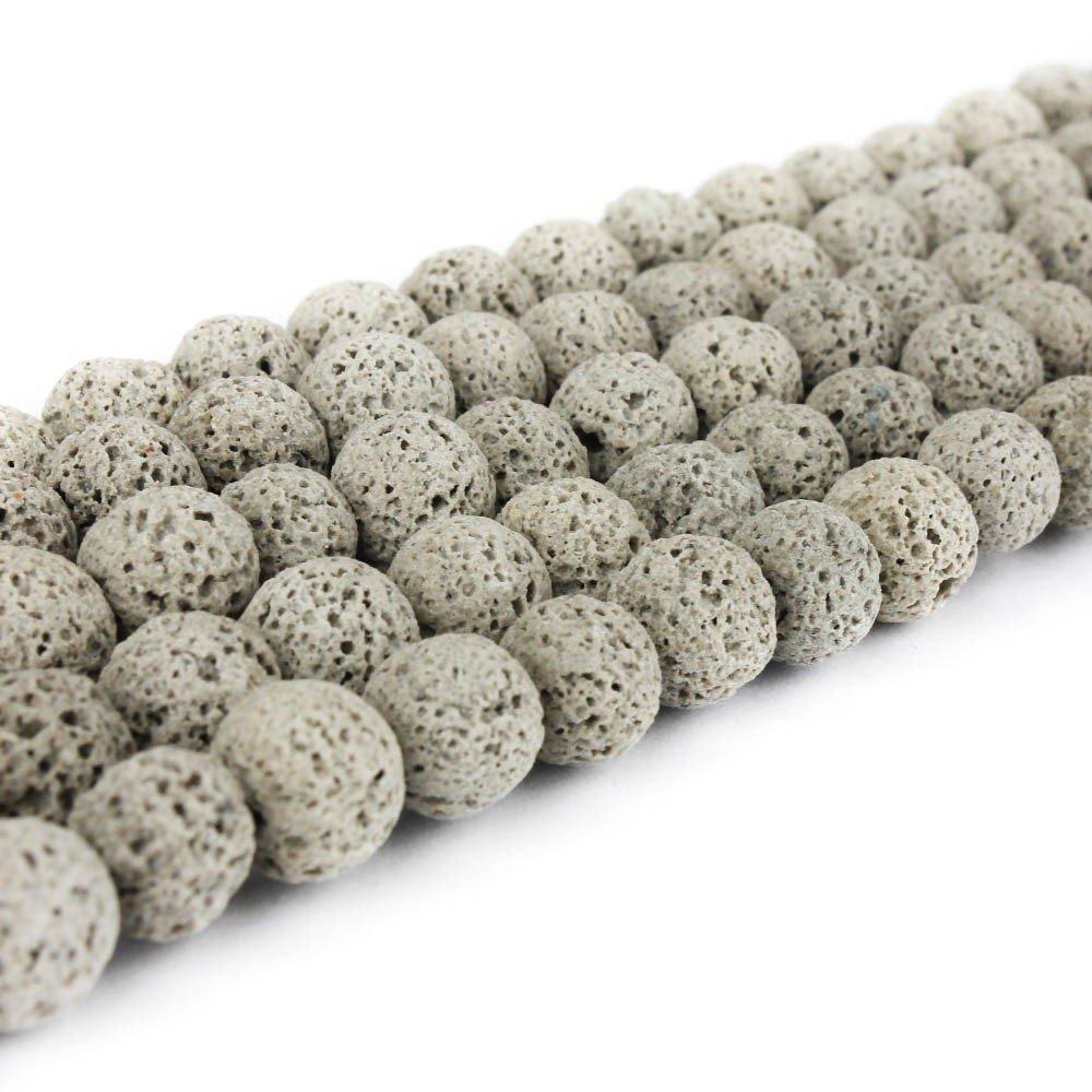 Přírodní láva - šedá - ∅ 8 mm - 1 ks