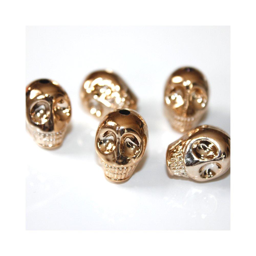 Lebka - růžově zlatá - 18 x 14 x 16 mm - 1 ks