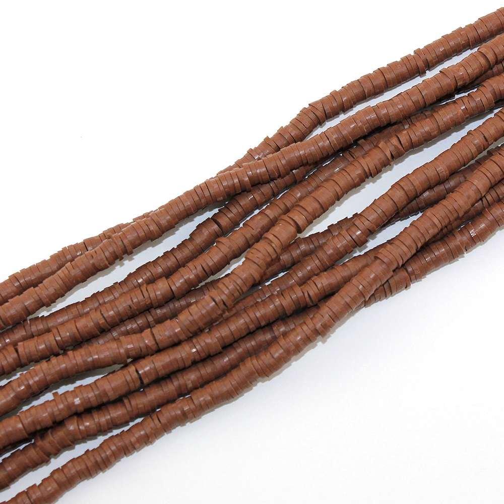Lentilky z polymeru - hnědé - ∅ 5 mm - 10 ks