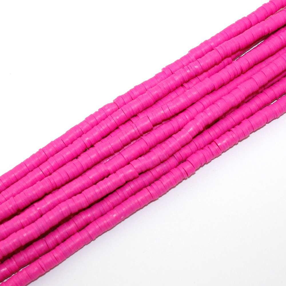 Lentilky z polymeru - ∅ 5 mm - razivě růžové - 10 ks
