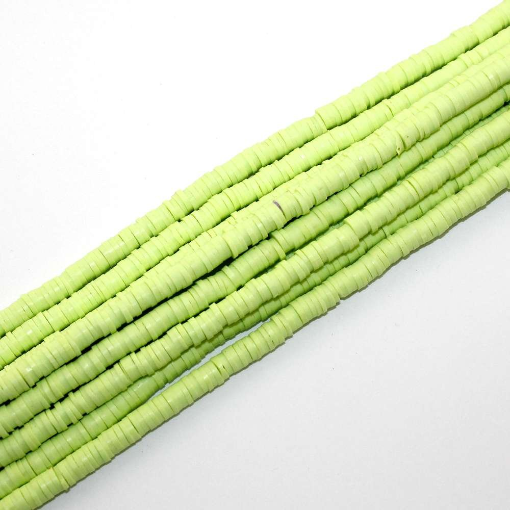 Lentilky z polymeru - ∅ 5 mm - světle zelené - 10 ks