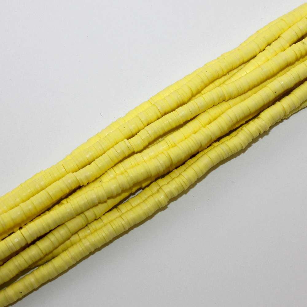 Lentilky z polymeru - ∅ 5 mm - žluté - 10 ks