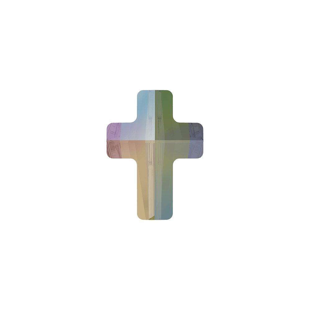 SWAROVSKI 5378 - CROSS BEAD - Crystal Paradise Shine - 14 x 10,5 x 6 mm - 1 ks