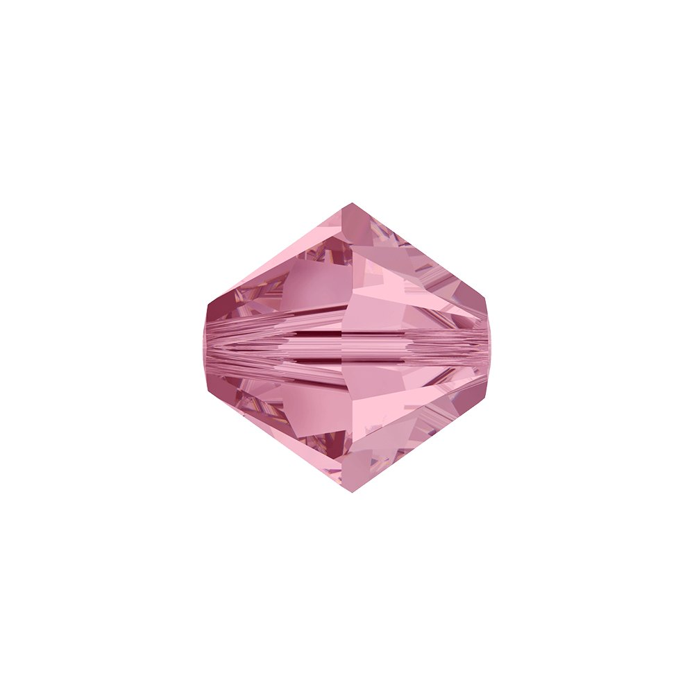SWAROVSKI 5328 - XILION BEAD - Light Rose - ∅ 6 mm - 1 ks