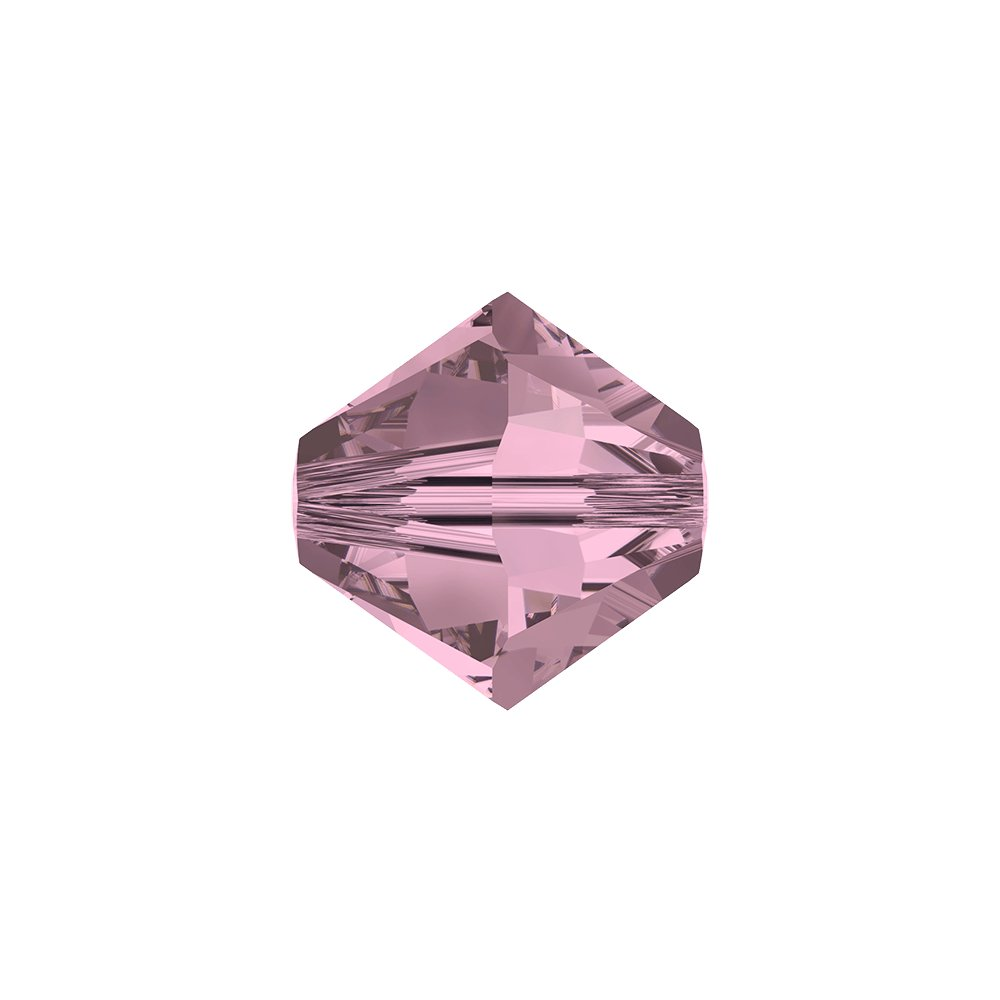 SWAROVSKI 5328 - XILION BEAD - Crystal Antique Pink - ∅ 4 mm - 1 ks