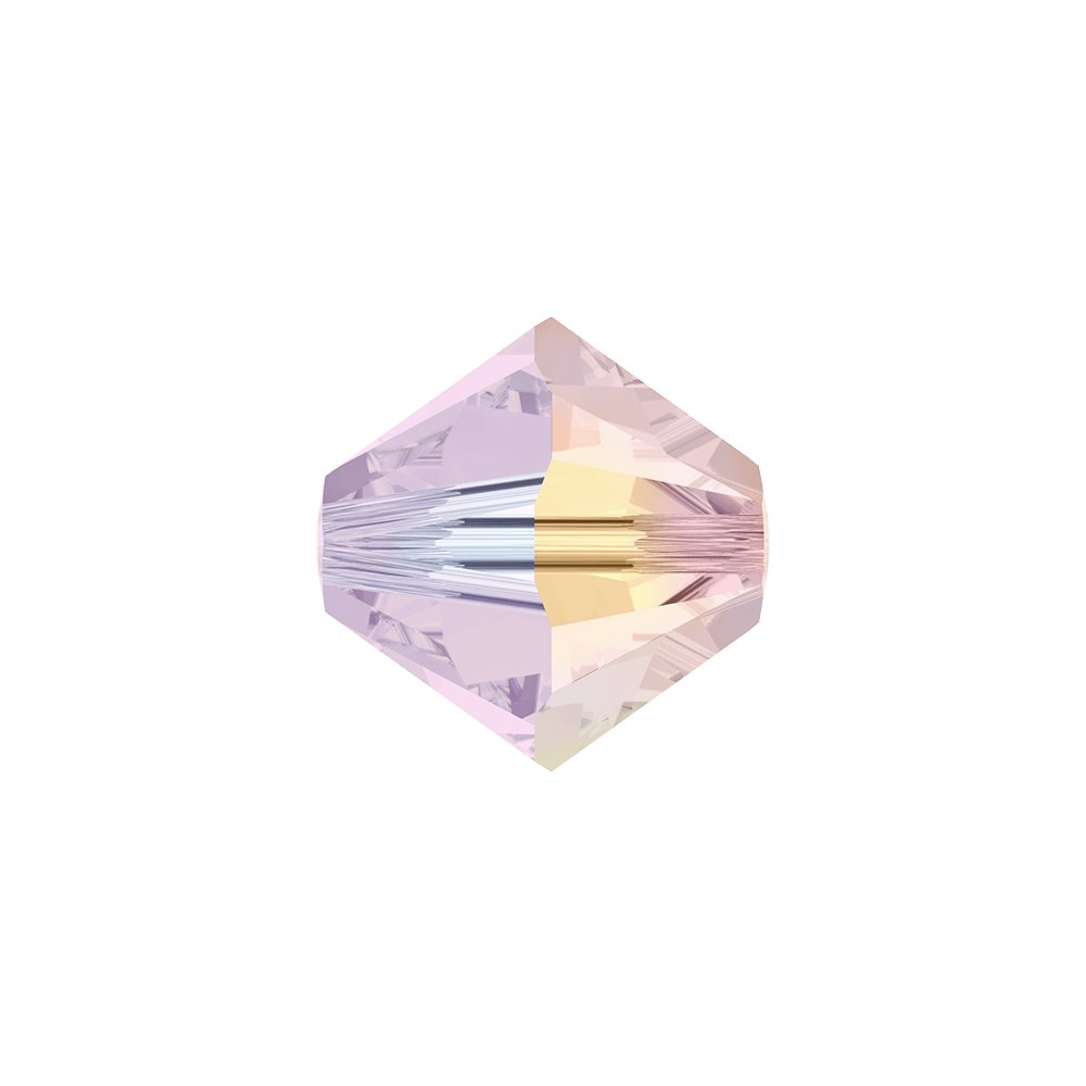 SWAROVSKI 5328 - XILION BEAD - Rose Water Opal Aurore Boreale 2x - ∅ 4 mm - 1 ks