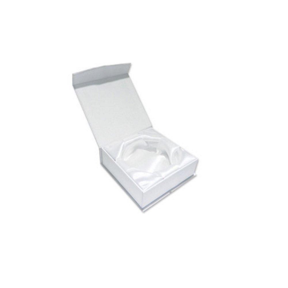 Luxusní dárková krabička na náramky - bílá - 90 x 90 x 38 mm - 1 ks