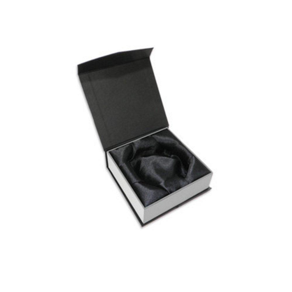 Luxusní dárková krabička na náramky - černobílá - 90 x 90 x 38 mm - 1 ks