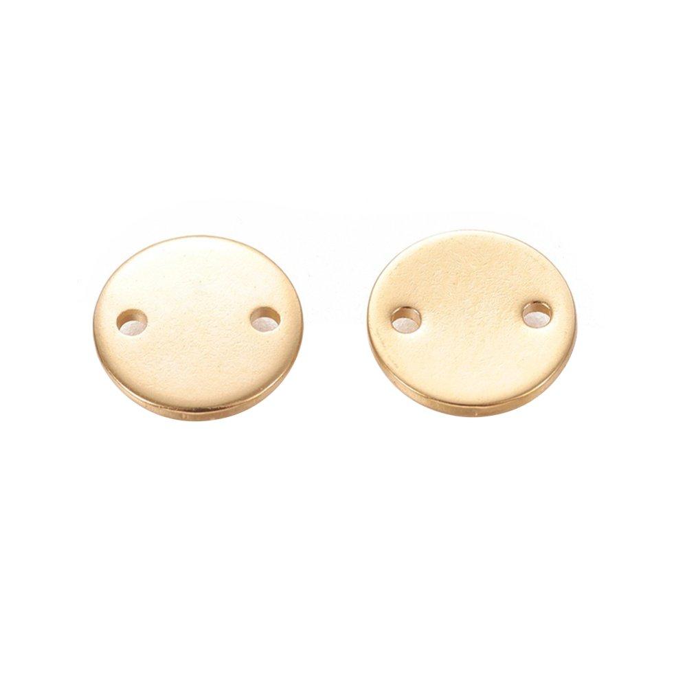 Mezidíl z nerezové oceli pro gravírování - zlatý - placička - 10 x 10 x 1 mm - 1 ks