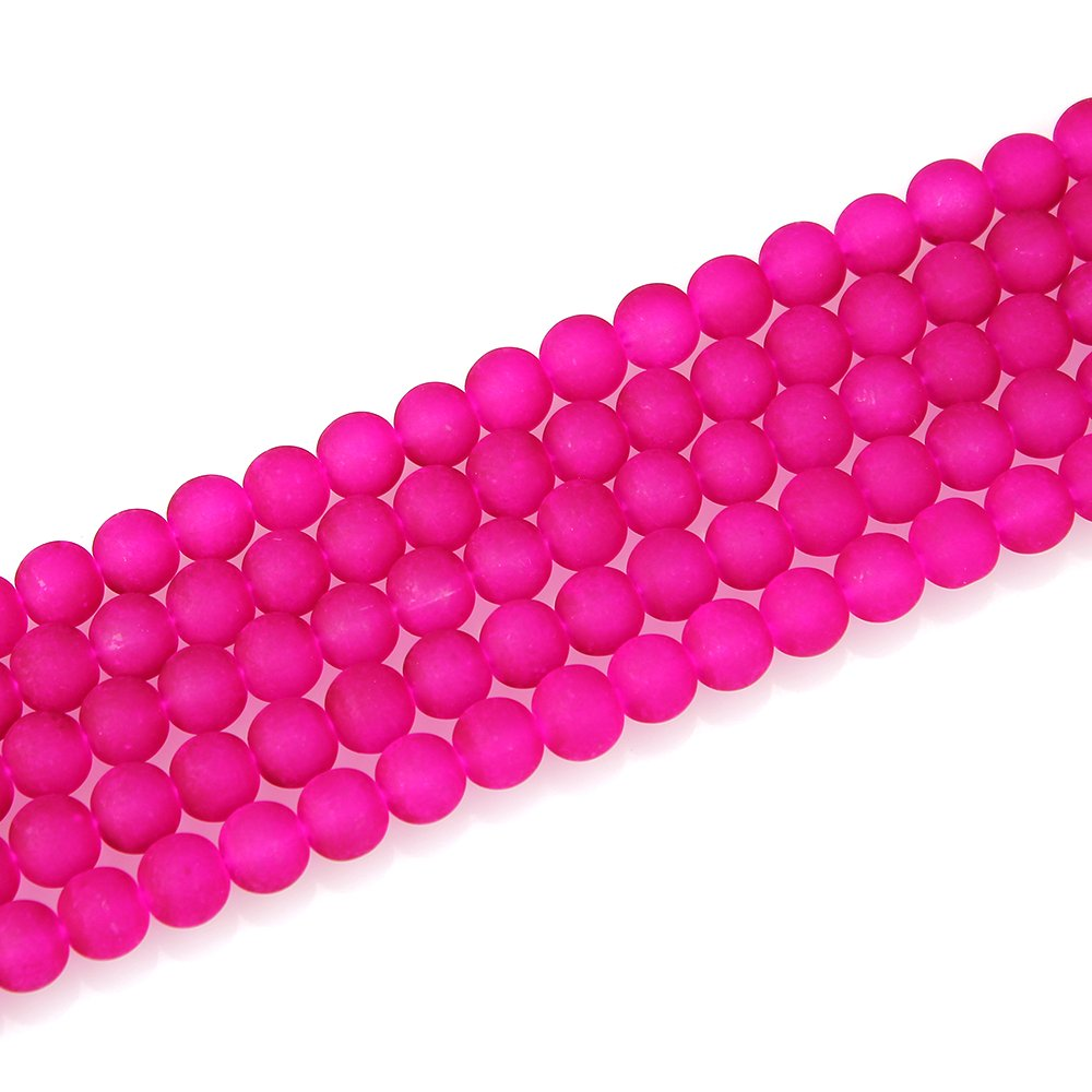 Matné korálky - růžové - ∅ 10 mm - 10 ks