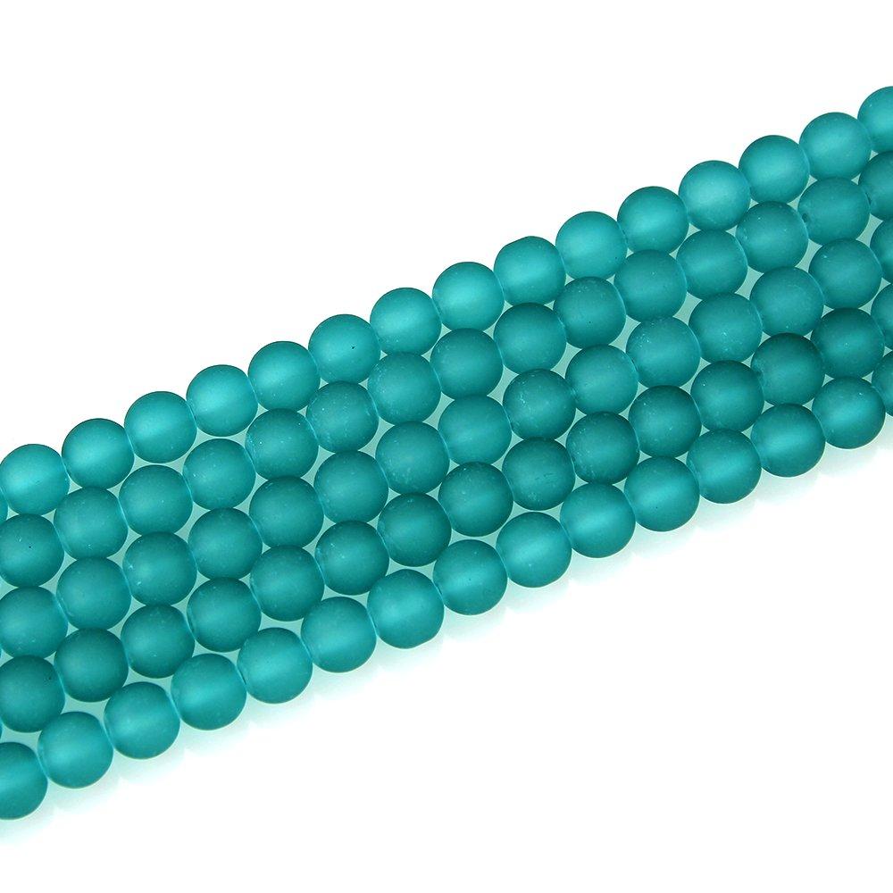 Matné korálky - zelené - ∅ 10 mm - 10 ks