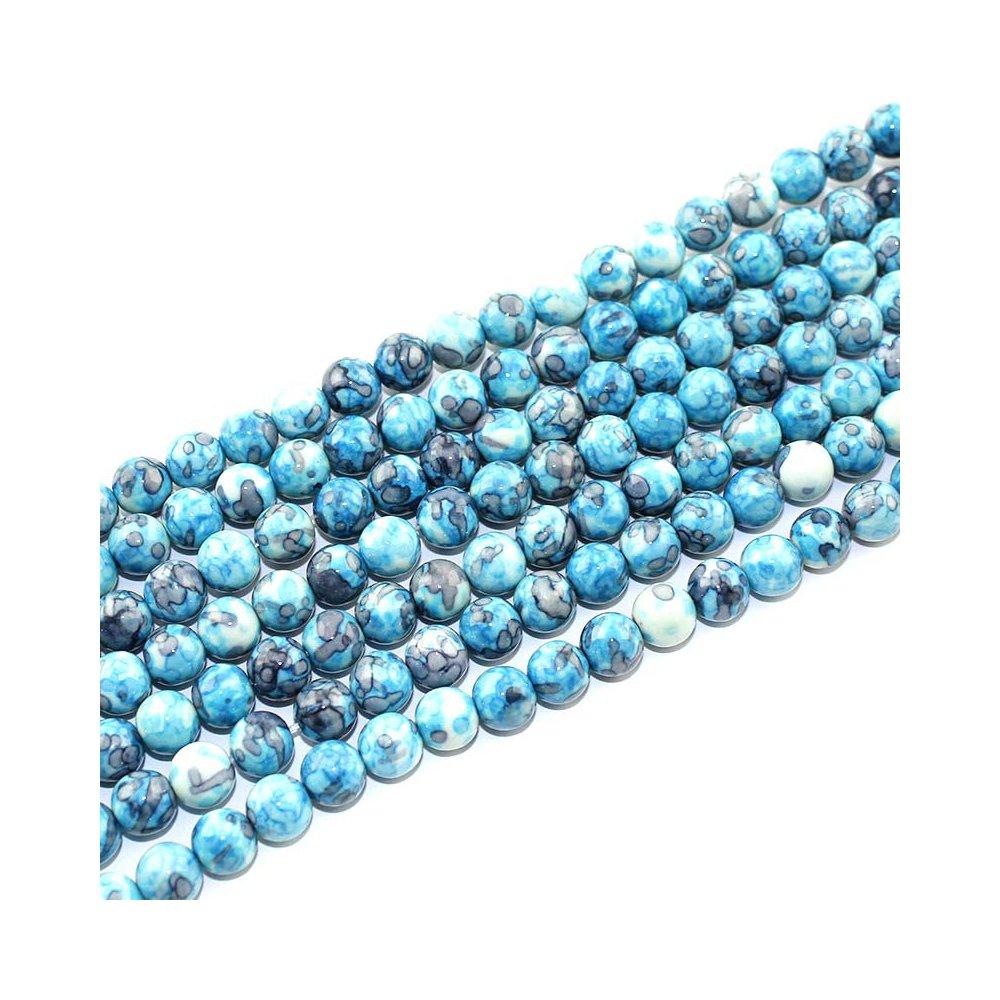 Syntetický oceánský nefrit - modrošedý - ∅ 8 mm - 1 ks