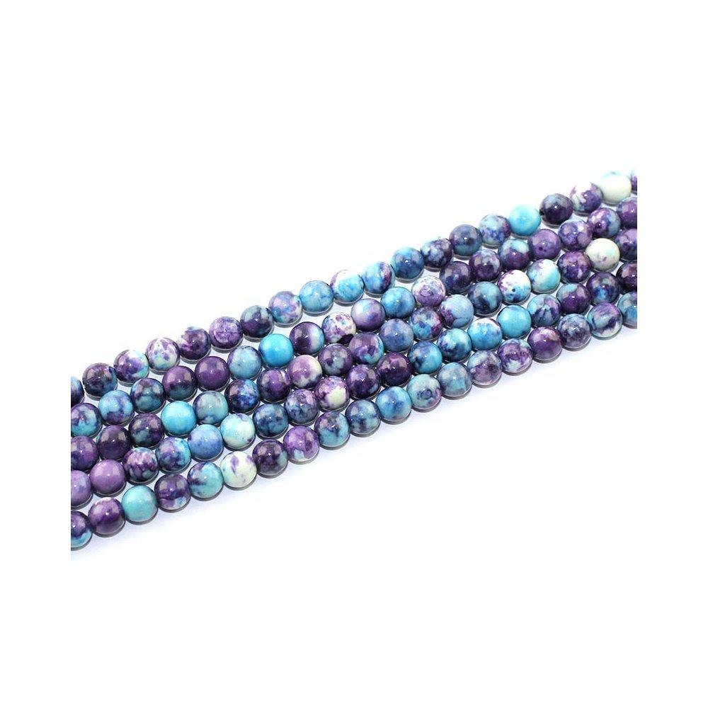 Syntetický oceánský nefrit - modrofialový - ∅ 6 mm - 1 ks