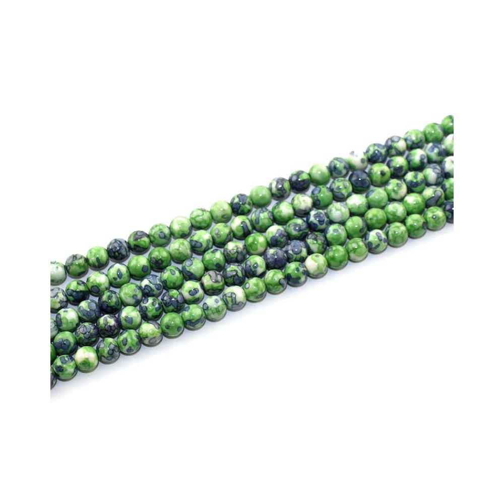 Syntetický oceánský nefrit - zelenošedý - ∅ 6 mm - 1 ks