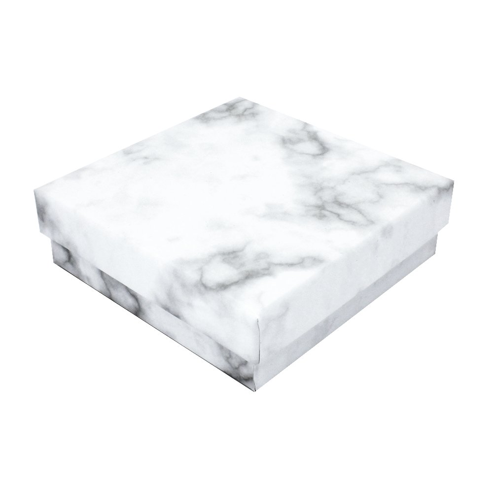 Dárková krabička na šperky - mramorová - 9,1 x 7,1 x 2,8 cm - 1 ks