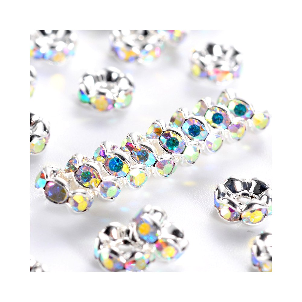 Mosazná rondelka - stříbrná - třída AAA - vroubkovaná - ∅ 5 x 2,5 mm - 1 ks
