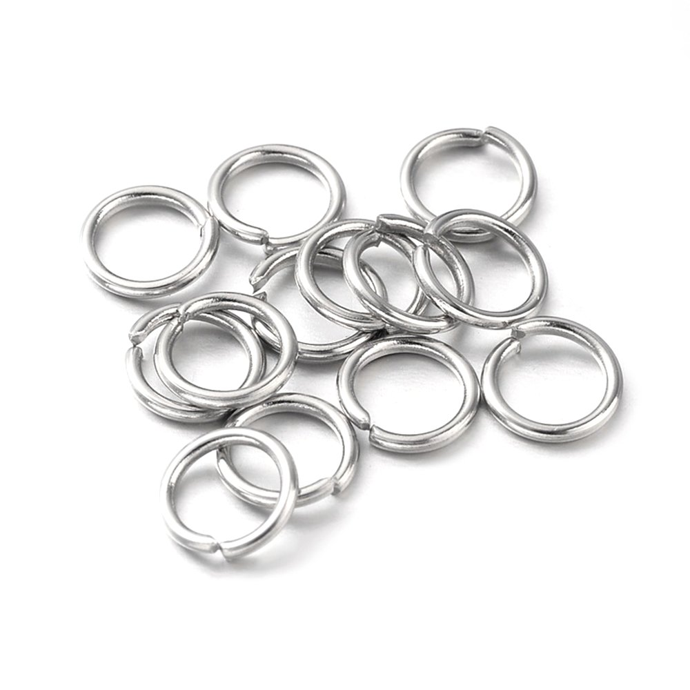 Mosazný spojovací kroužek - platinový - Ø 5 mm - 1 ks