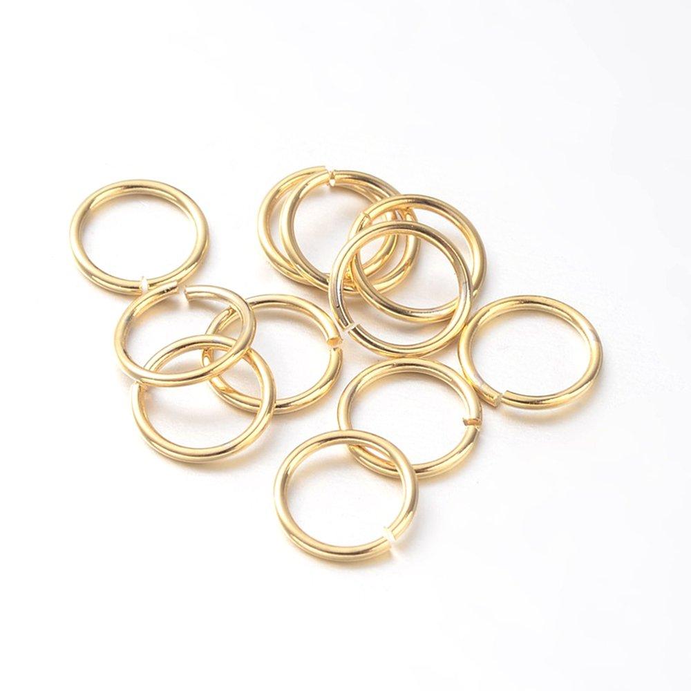Mosazný spojovací kroužek - zlatý - Ø 5 mm - 1 ks